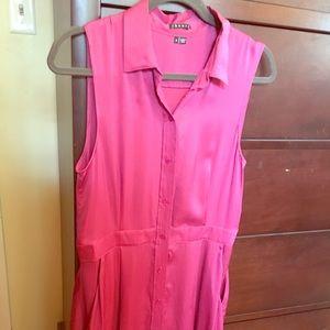 Pure silk hot pink dress!